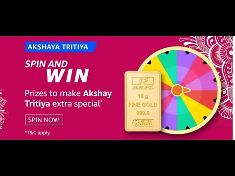 Which of these festivals is also known as Akha Teej? | Amazon Akshaya Tritiya Spin And Win Quiz