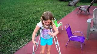 How To Use Crutches Kids Demo Tyler LeVine