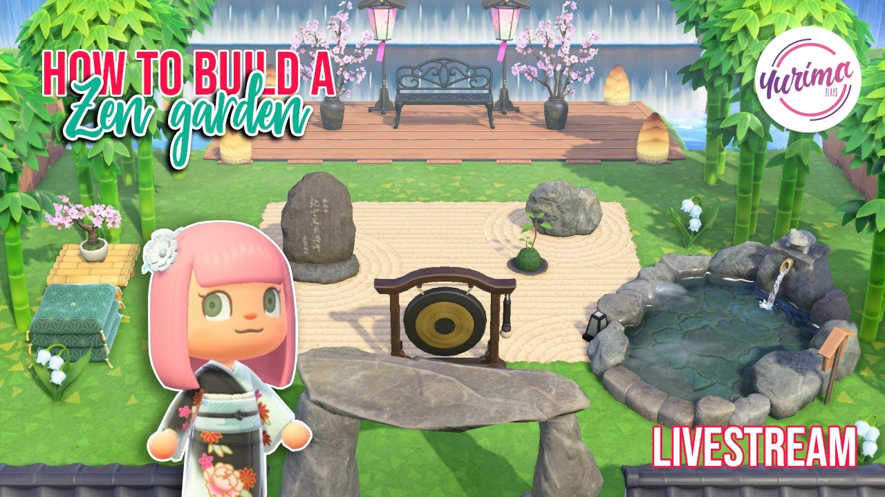 How To Build A Zen Garden In Animal Crossing New Horizons Livestream Youtube