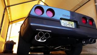 MagnaFlow exhaust on a 1990 c4 corvette