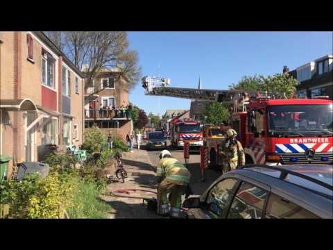Woningbrand Vondellaan IJsselstein 8-5-2017