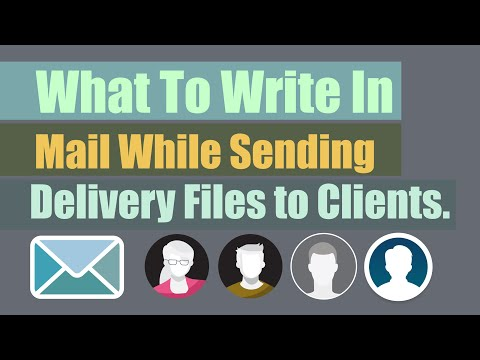 How to send logo design to client or customer professionally and what to write in mail