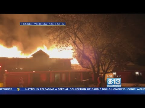 Family, Cat Escape House Fire In Orangevale