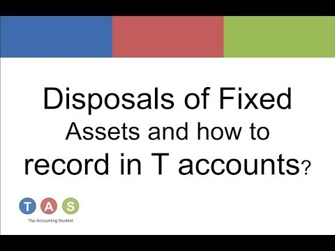 Disposals of Fixed Assets and how to record in T accounts?