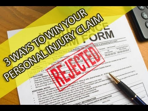 Insurance Claim Ways To Win Your Personal Injury Claim