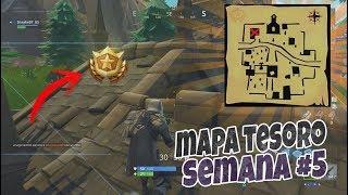SIGUE EL MAPA DEL TESORO DE RIBIERA REPIPI | Desafío Difícil Semana 5 | FORTNITE