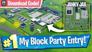 NEW Janky Jail Location (w/ Download Code!) - Fortnite Block Party Entry!