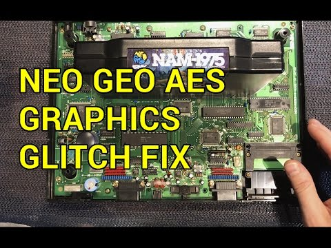 Neo Geo AES Repair Graphic Glitches  - YouTube