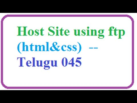 host-site-using-ftp----telugu-045-vlr-training