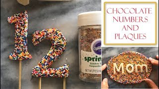 How to Make Chocolate Numbers and Plaques | Using Rainbow Sprinkles