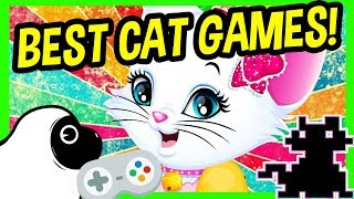 BEST CAT GAMES ONLINE! Free Funny Cat Video Games | Let's play ALLEY CAT, Kitty Spa Make-Over & more