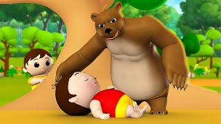 The Bear and Two Friends 3D Animated Hindi Moral Stories for Kids - दो दोस्त और भालू हिन्दी कहानी