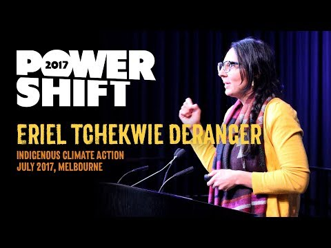 Eriel Tchekwie Deranger speaking at Power Shift 2017