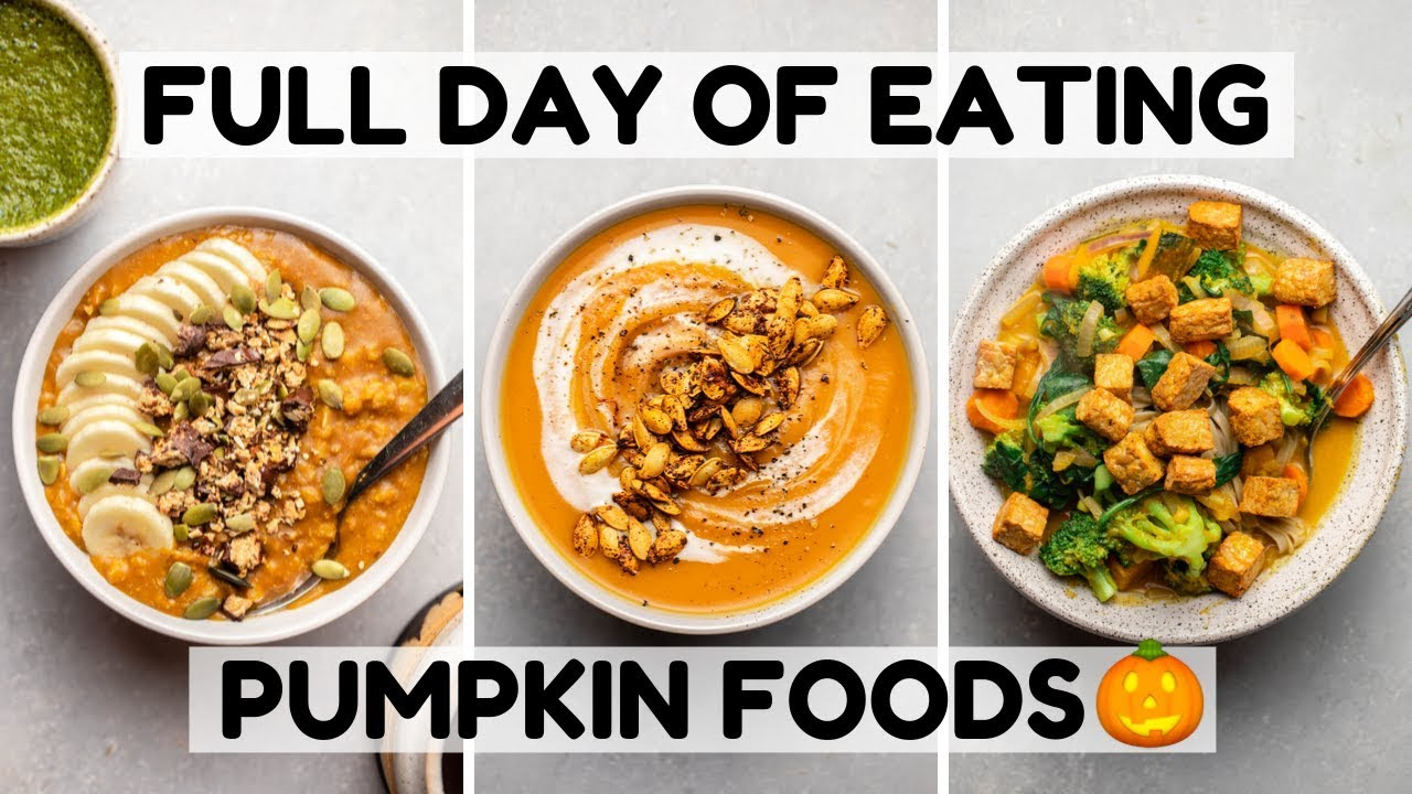 Eating Only PUMPKIN Foods For a Day (Vegan)