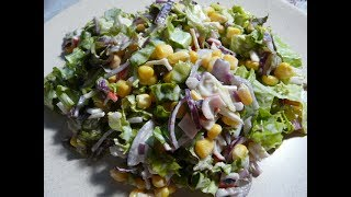 Салат быстрого приготовления за 5 - 10 минут/salad recipe tasty and easy/Салаты
