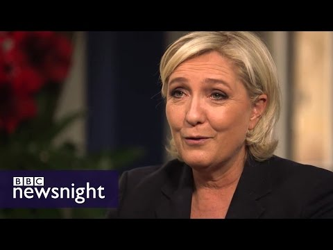 'I am the anti-Merkel': Marine Le Pen on Brexit, EU, Putin and Nato - BBC Newsnight