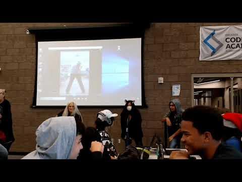 Hour of Code Kick Off Dance at Phoenix Coding Academy