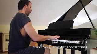 Måneskin - I Wanna Be Your Slave - Piano cover (with lyrics)