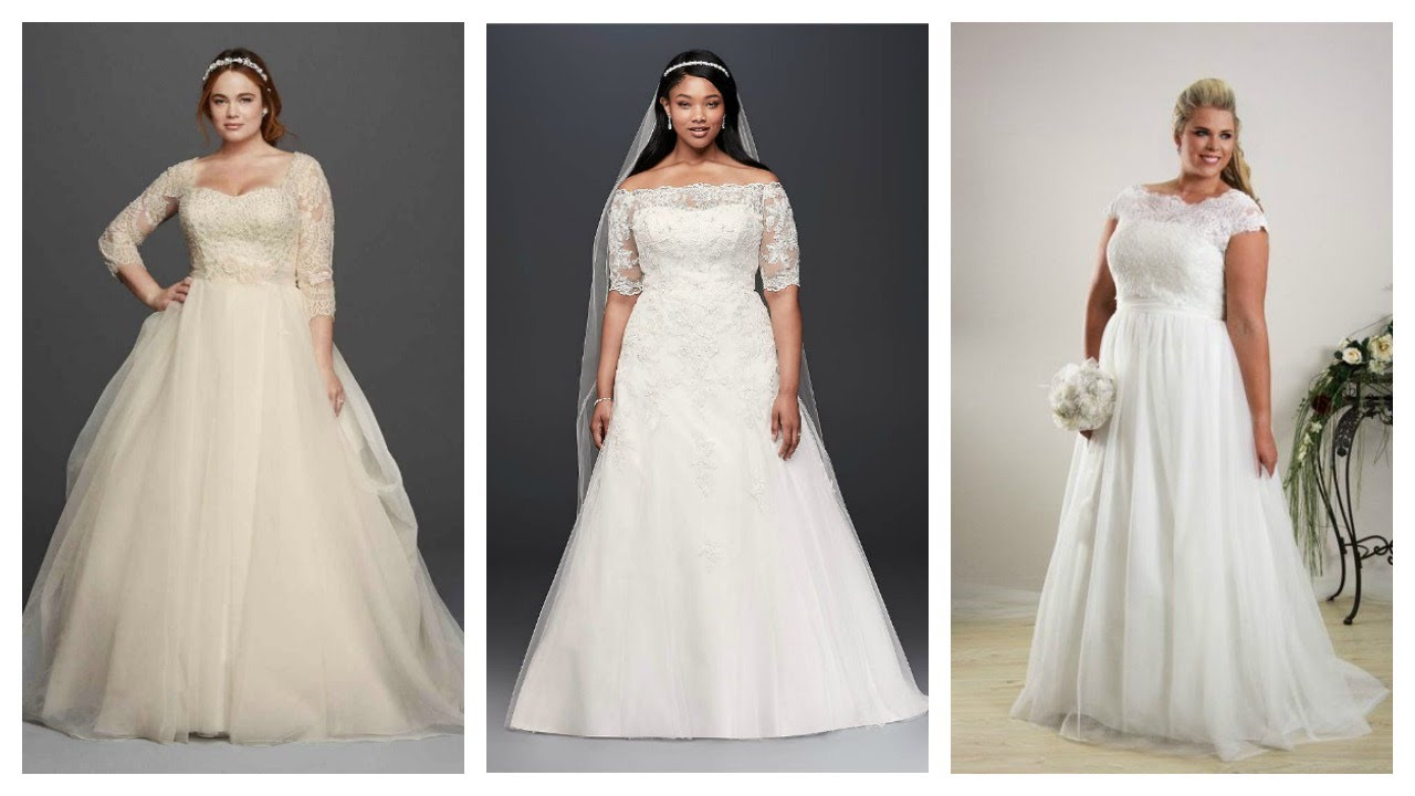 Plus Size Wedding Gowns To Flatter Every Curvy Girl - YouTube