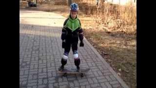 20130420 первый урок на скейте