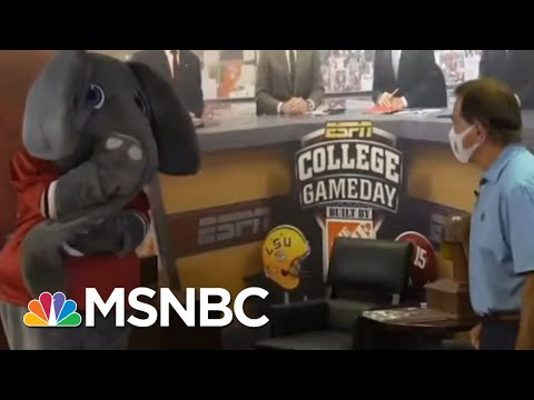 Alabama Coach Nick Saban Wears Mask In New PSA | Morning Joe | MSNBC