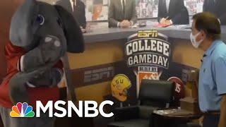 Alabama Coach Nick Saban Wears Mask In New PSA | Morning Joe | MSNBC