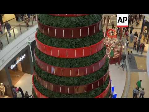 Decorations go up to mark festive season