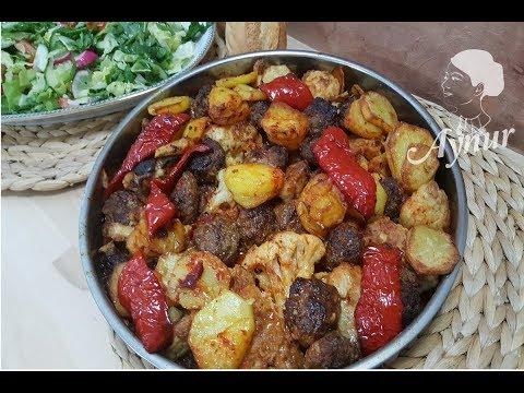 Firinda Karnabahar ve Patatesli Köfte tarifi I Firin yemekleri