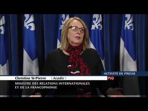 Les Catalans majoritairement attachés à l'Espagne pour Christine St-Pierre