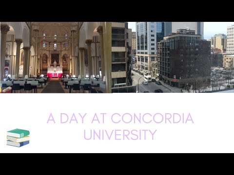 a day in the life of a concordia university student | victoria em