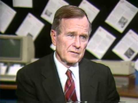President George H.W. Bush With Jim Parisi