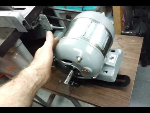 Motor restoration on the craftsman saw youtube for Electric motor for bandsaw
