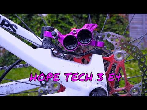 Rear with Black Hose Brake Hope Tech 3 E4 Purple Right Brand New
