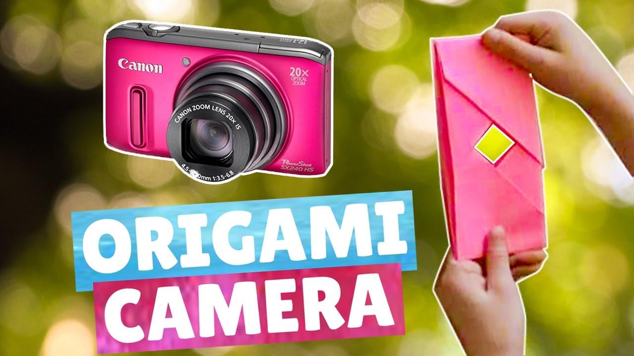 Origami camera - Easy   How to make an origami camera ...