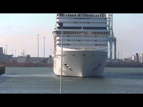 CRUISE SHIP MSC MAGNIFICA - DEPART ZEEBRUGGE PORT (BELGIUM)TO AMSTERDAM 29 AUGUST 2013