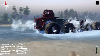 Spintires 2014 - Biggest Monster Truck #1- Mod Pc {HD}