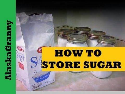 How To Store Sugar- Long Term Food Storage Tips Tricks Hacks