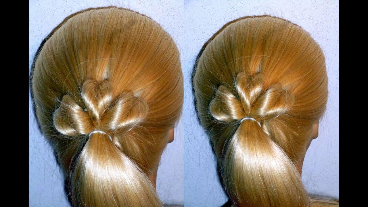 Einfache Herz Frisur Ohne Flechten Schulealltagunieasy Hairstyle Peinados Rápidos