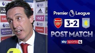 Unai Emery reacts to Arsenal's dramatic comeback | Arsenal 3-2 Aston Villa | Post Match