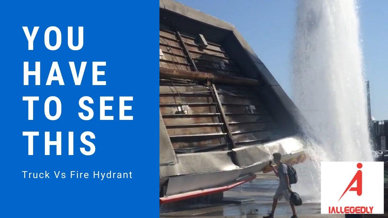 Truck versus a Fire Hydrant
