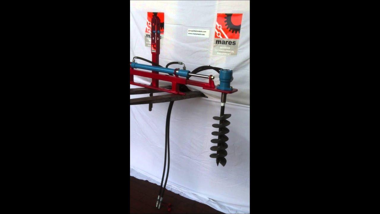 hydraulischer erdbohrer f r weinbau pflanzensetzten g mares ltd 70 200 mm 2 youtube. Black Bedroom Furniture Sets. Home Design Ideas