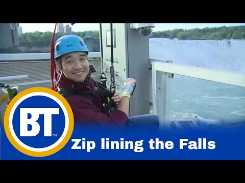 Riding The New Mistrider Zipline At Niagara Falls (Winston Sih)