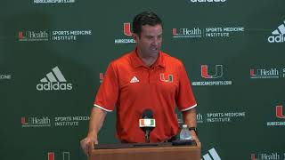 Manny Diaz | Game Week Press Conference | 8.19.19