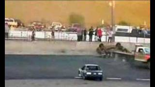 Oval Track Car Crash
