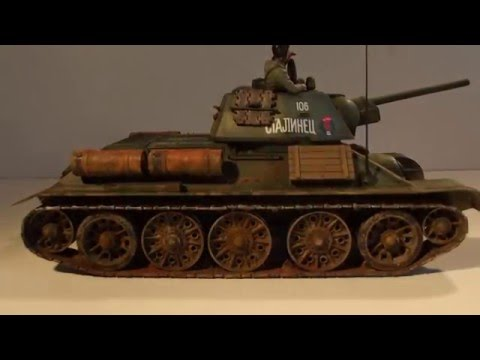 Russian tank T 34/76 1/35 Tamiya - YouTube