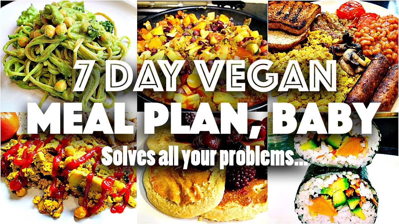 7 DAY VEGAN CHALLENGE MEAL PLAN (Easy, go-to recipes) - YouTube