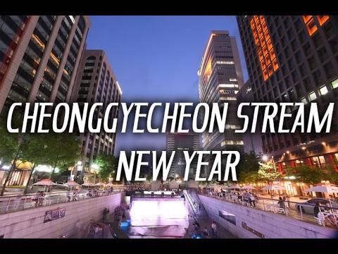 Meriahnya Perayaan Natal & Tahun Baru Di Cheongyecheon Stream korea
