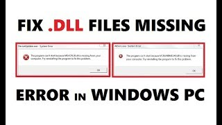 How to Fix All .DLL Files Missing Error in Windows 1087 PC for FREE  Easily