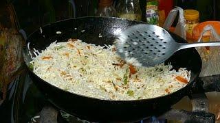 veg fried rice fast food in india 4k video 4k ultra hd video street food