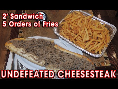 Philly Cheesesteak Sandwich UNDEFEATED Challenge!!